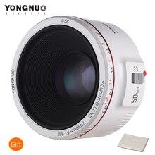 YONGNUO objetivo fijo estándar YN50mm F1.8 II, gran apertura, enfoque automático, 0,35, distancia Focal más estrecha para Canon EOS 5DII 5diii 5DS 5DSR