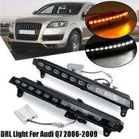Front Bumper Led Turn Signal Light For Audi Q7 2006 2009 Fog Light Lamp Daytime Running Light Drl Blink Headlight Accessories