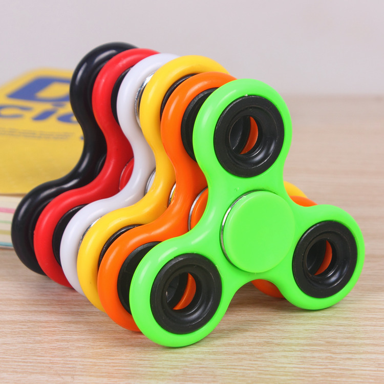 ABS Fidget Spinner EDC Spinner For Autism ADHD Anti Stress Tri Spinner High Quality Adult Kids Funny Toys