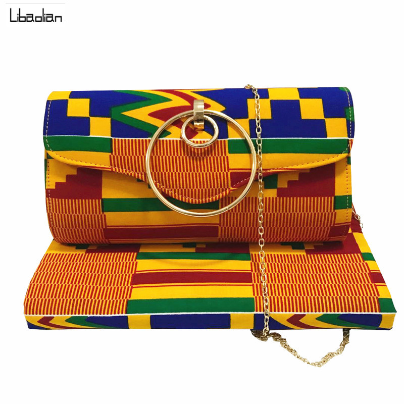 African wax bag African kente Print and Purse/african cotton wax with bags 6yards kente fashion designer ,hot selling a94-26