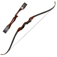 toparchery 58inch 35-60lbs Take-down Archery Hunting Bow Wooden Right-handed Shooting Recurve Bow For Outdoor Shooting Sports