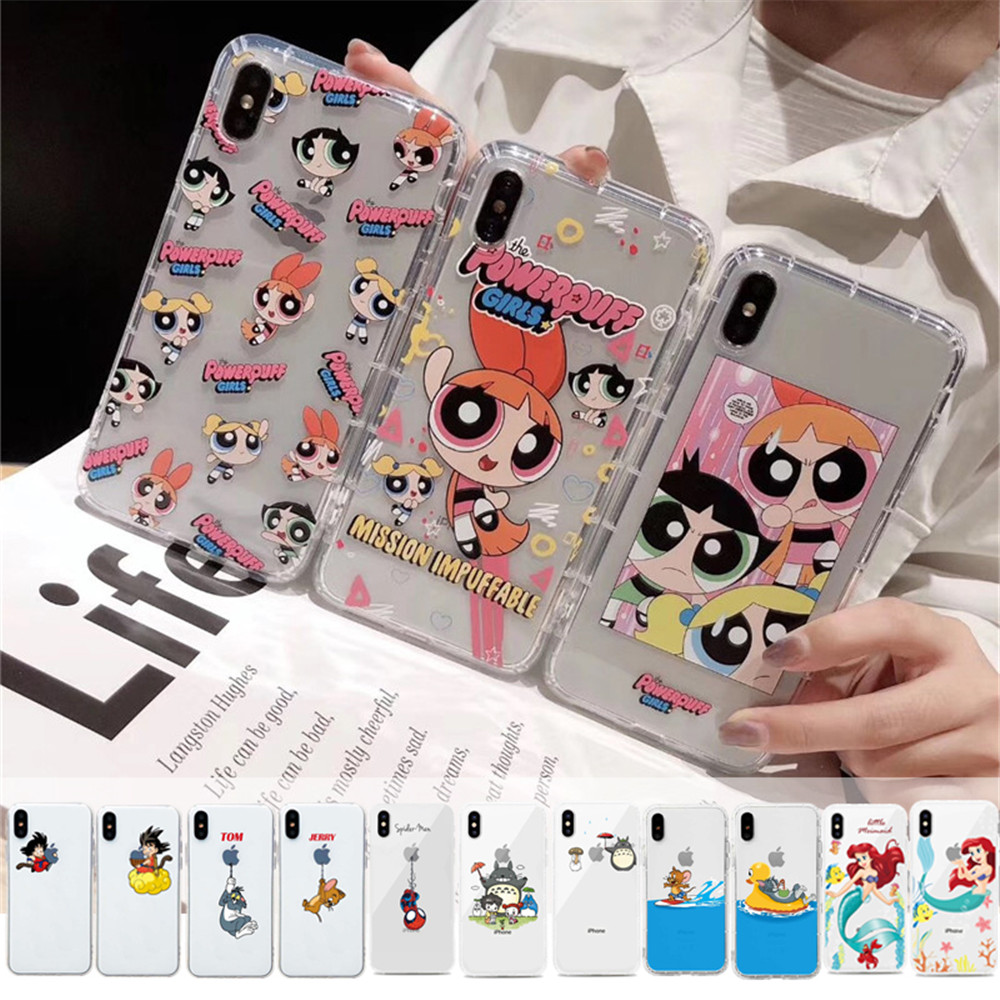 Cute-Powerpuff-Girls-Policemen-INS-Phone-Case-Cover-For-iPhone-XS-X-Max-Xr-11-Pro