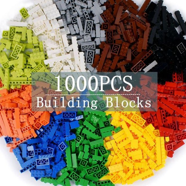 1000pcs Classic Building Blocks MOC Bricks Set DIY Car Train City Creator Educational Toys for Children 9 Different Model Sizes
