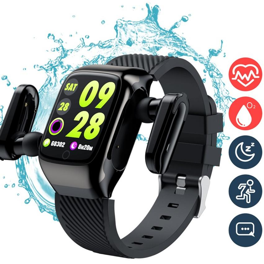 S300 Bluetooth Call Smart Bracelet TWS Smart Earphone 2-in-1 Pedometer Heart Rate Blood Pressure Call Reminder Smart Band Watch (5)