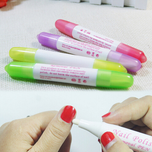 Nail Polish Remover Pen Manicure Cleaner Nail Art Gel Nail Polish Corrector Remover Pen UV Gel Polish Remover Wrap Tool