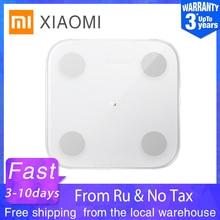XIAOMI MIJIA Mi весы анализатор тела 2 умный жир, весы для ванной цифровой электронный светодиодный экран баланс приложение анализ данных