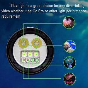 Image 5 - Lampe de plongée sous marine, 100M 2350lm, étanche XM LED, éclairage blanc/rouge/UV pour photographie et vidéo + batterie 32650