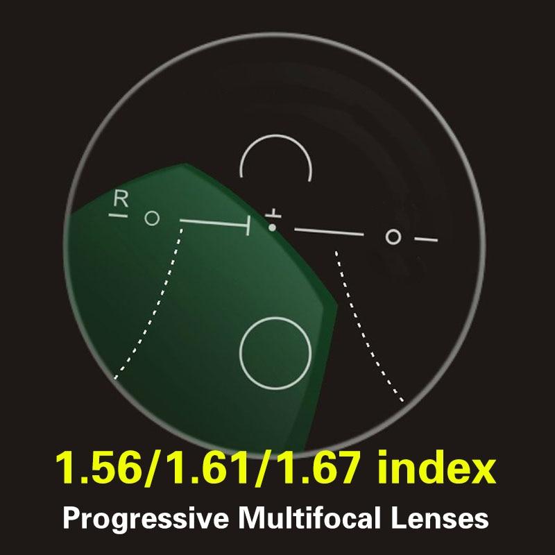 CUBOJUE Multifocal 1.56 1.61 1.67 Index Resin Progressive  Glasses Lens Near Far Vision Myopia/hyperopia