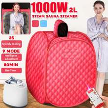 Portable Steam Sauna Home Sauna Generator Slimming Household Sauna Box Ease Insomnia Stainless Steel Pipe Support Remote Control