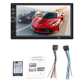 2 Din Car Multimedia Player Autoradio Car Bluetooth Stereo Radio Touch Screen Mirrorlink MP5 Player With Rear Camera image