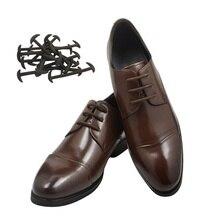 12шт/комплект Мужчины Женщины кожаный ботинок шнурки ленивый Силиконовые шнурки без галстука шнурки эластичный подходящие кроссовки унисекс