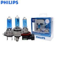 Philips H1 H4 H7 H11 9005 9006 12V Kristall Vision 4300K Helle Weiße Licht Halogen Auto Kopf Licht nebel Lampen + 2x T10 Lampen, paar