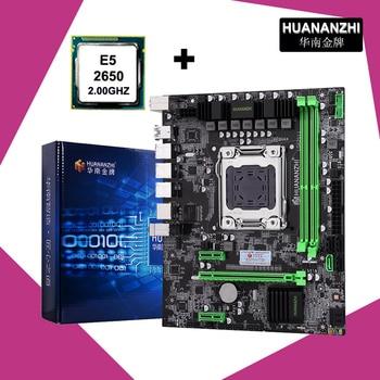 Brand new HUANANZHI X79 motherboard LGA2011 motherboard CPU combo processor Xeon E5 2650 C2 SR0KQ support 2*8G DDR3 memory