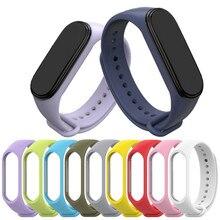 Браслет для Xiaomi Mi Band 4 3 спортивный ремешок часы силиконовый ремешок для xiaomi mi band 3 4 аксессуары Miband 3 4 ремешок