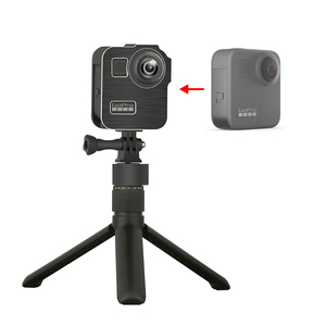 Image 2 - GoPro Max 360 액션 카메라 라이브 스트리밍 Vlog 부품 용 2 개의 콜드 슈 마운트가있는 알루미늄 합금 보호 케이지 표준 프레임