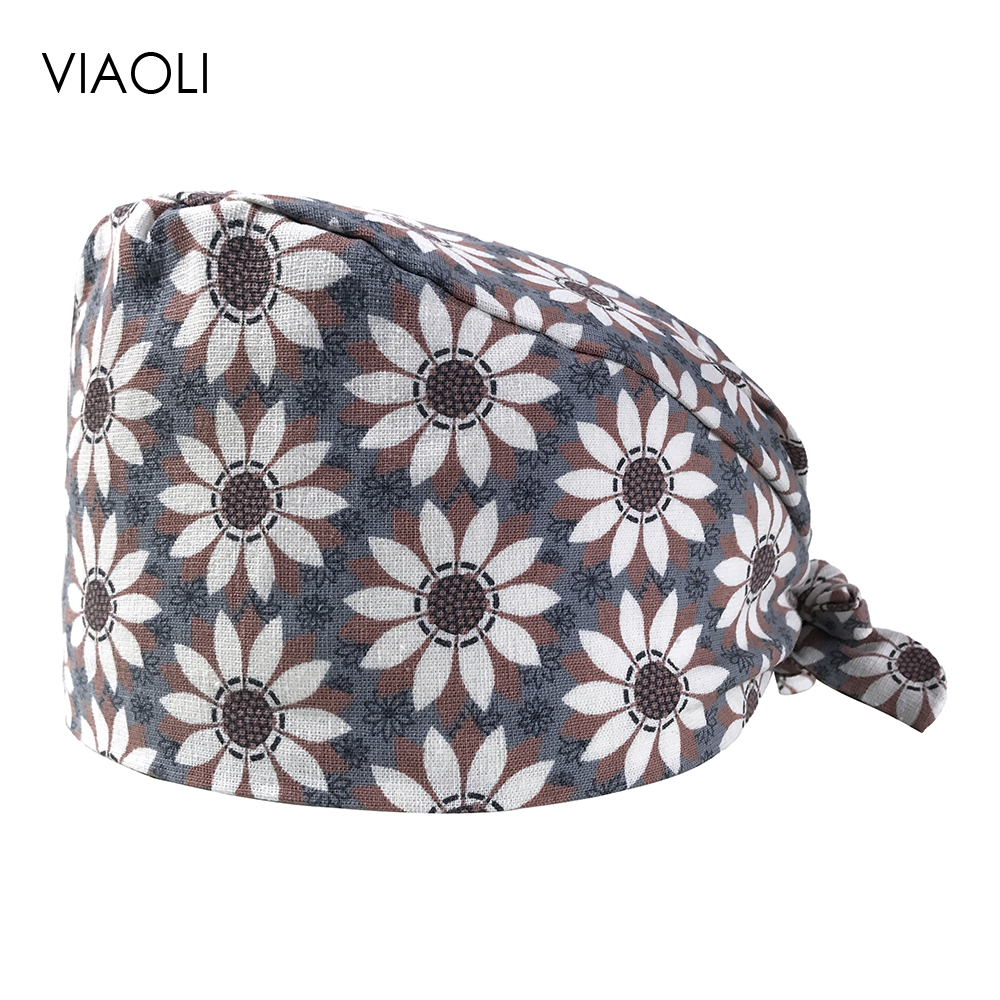 Surgical Caps Female Male Operating Room Hat Chemotherapy Baotou Caps Oral Dental Printing Cotton Thin Section Doctor Nurse Caps