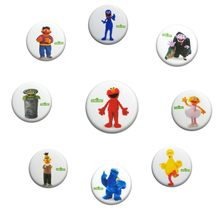 1pcs Sesame Street Pins Round Badges DIY Sewing Icons on T shirt Hat Backpack Elmo Brooches Buttons Kids Gift Party Supply(China)