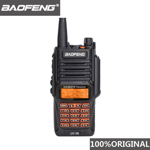 Baofeng originale UV 9R IP67 8W Walkie Talkie a lunga distanza 10km Radio amatoriale Dual Band UV9R portatile CB Radio comunicatore UV 9R