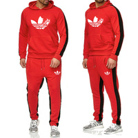 Men's Tracksuit 2 sets of new fashion jacket sportswear men's sweatpants hoodies spring and autumn men's brand hoodies pants