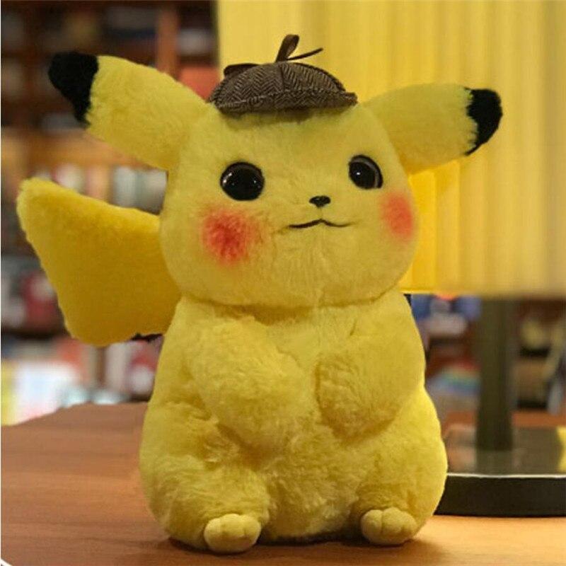 28cm Pikachu Plush Toy Stuffed Toy Detective Pikachu Japan Movie