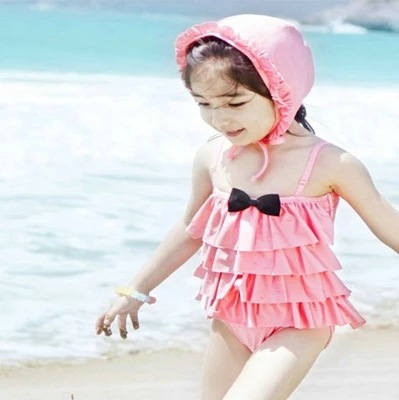 2017 New Style KID'S Swimwear GIRL'S One-piece Cute Multilayer Baby Hot Springs Girls Princess Swimwear Baby Swimsuit