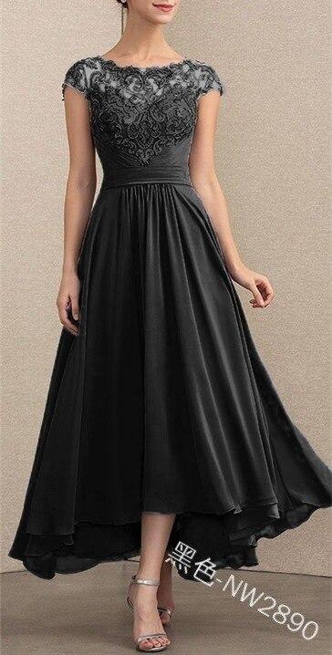 Linglewei New Spring and Summer Women's Dress New Style Lace Chiffon Dress
