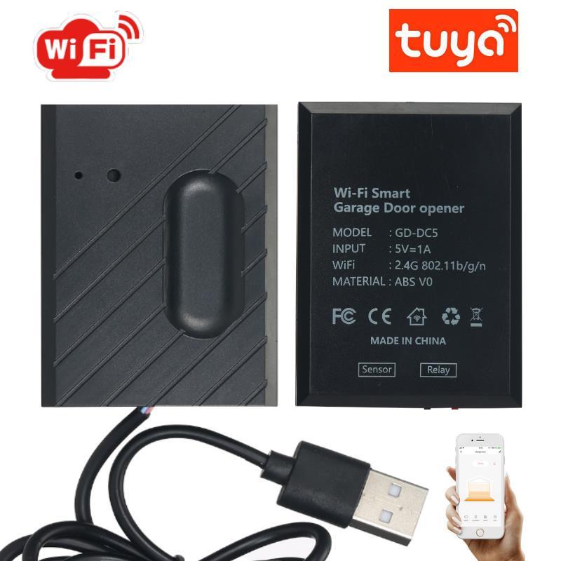 2021 WiFi Switch Smart Garage Door Opener Controller Work With Alexa Echo Google Home SmartLife/Tuya APP Control No Huub Require