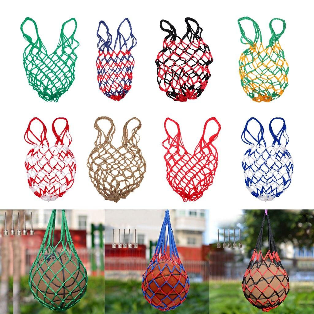 Multifunctional Mesh Net Bag Single Ball Carrier For Volleyball Basketball Football Soccer