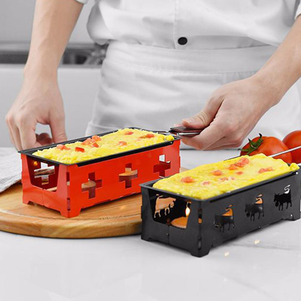 Non-Stick Mini BBQ Cheese Oven Long Handle Baking Pan Tray Grill Kitchen Gadget Easy To Store image