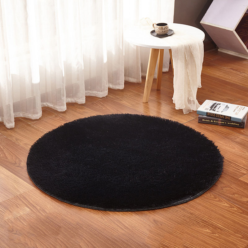 Round Carpet For Living Room Home Warm Plush Floor Rugs fluffy Mats Kids Room Living Room Mats Yoga Silky Faux Fur Area Rug in Carpet from Home Garden