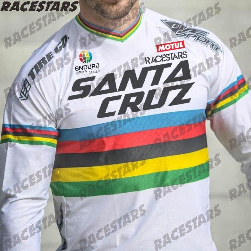 Джерси для мотокросса Santa Cruz, горнолыжная Джерси, горный велосипед с коротким рукавом, Джерси для велоспорта, быстросохнущая дышащая майка д...