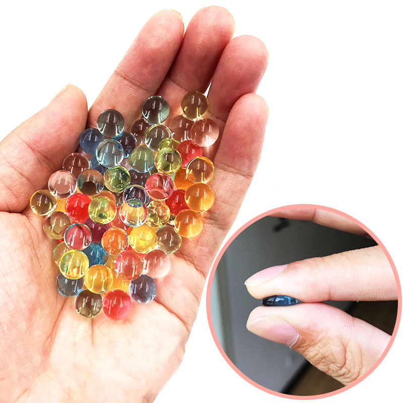200pcs/bag Colorful Pearl Gel Ball Polymer Hydrogel Potted Crystal Mud Soil Water Beads Grow Magic Jelly Wedding Home Decor F