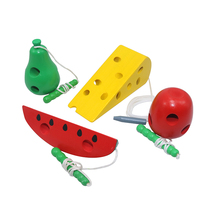 Wooden Education Baby Kindergarten Mouse Thread Cheese Plaything Early Learning Toys Montessori Teaching Aids Math Toy