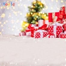 Yeele Christmas Backdrop Winter Snow Forest Tree Light Bokeh Newborn Baby Photography Background For Photo Studio Photophone