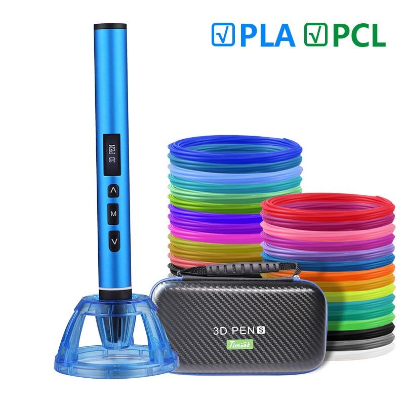 USB 3D Pen 3D Printing Pen  And 50m Pla Filament 5m X10 Colors The Best Christmas Present