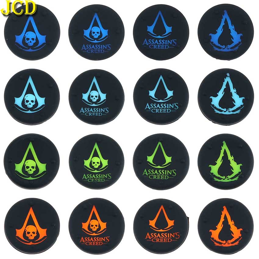 JCD 2PCS Silicone Analog Thumb Stick Grips Cover For Xbox 360 One Playstation 4 For PS4 PS3 Pro Slim Gamepad Joystick Cap Cases