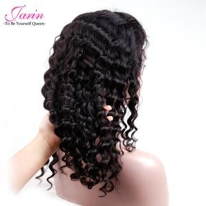 Image 4 - 1 2 5 шт./лот, человеческие волосы, кружевные передние парики, глубокая волна, парик на шнуровке, оптовая продажа, волосы Remy, натуральные черные бразильские волосы Jarin