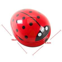 Dust Collector  Strong Suction Cleaner Mini Size Lovely Cartoon Ladybug Shape Desktop Vacuum Cleaner Home Office Keyboard