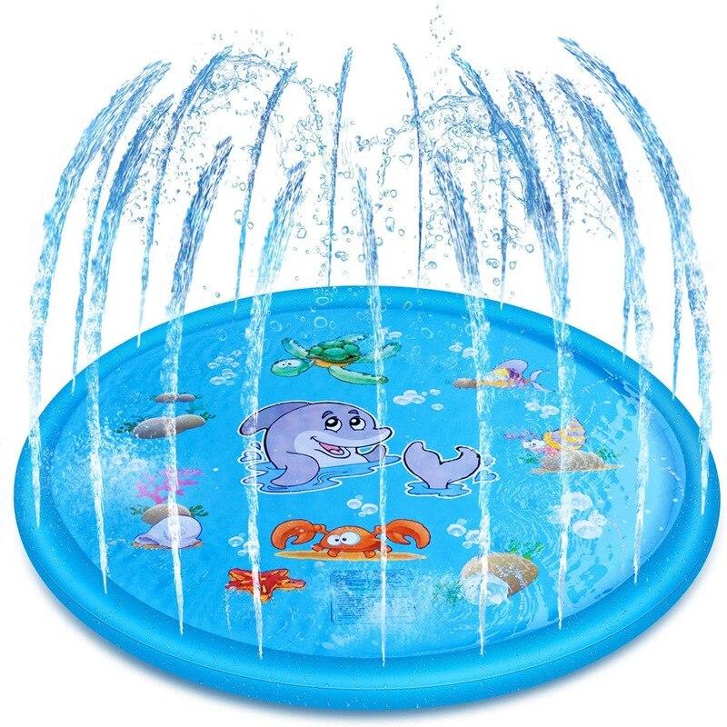 Verão crianças ao ar livre grama almofada de água praia mar animal spray de água inflável crianças aspersão jogo esteira-2