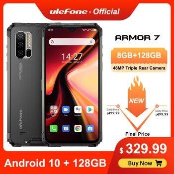 Перейти на Алиэкспресс и купить Ulefone Armor 7 прочный мобильный телефон Android 10 Helio P90 8 ГБ + 128 ГБ 2,4G/5G WiFi IP68 48MP CAM 4G LTE глобальная версия смартфона