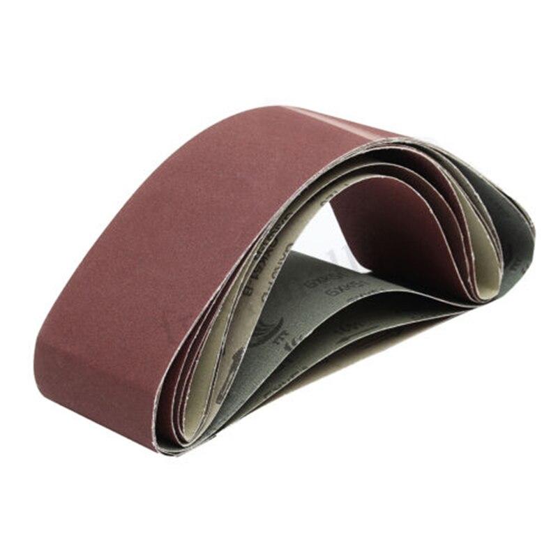 6PCS 80/120/180/220/320/400 Grit Sanding Belts Aluminium Oxide Sander Parts Sale