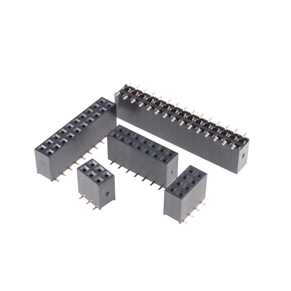 10pcs RoHS 2.0mm 2X40 Pin Header Double Row Right Angle 80 Pin for DIP PCB Board