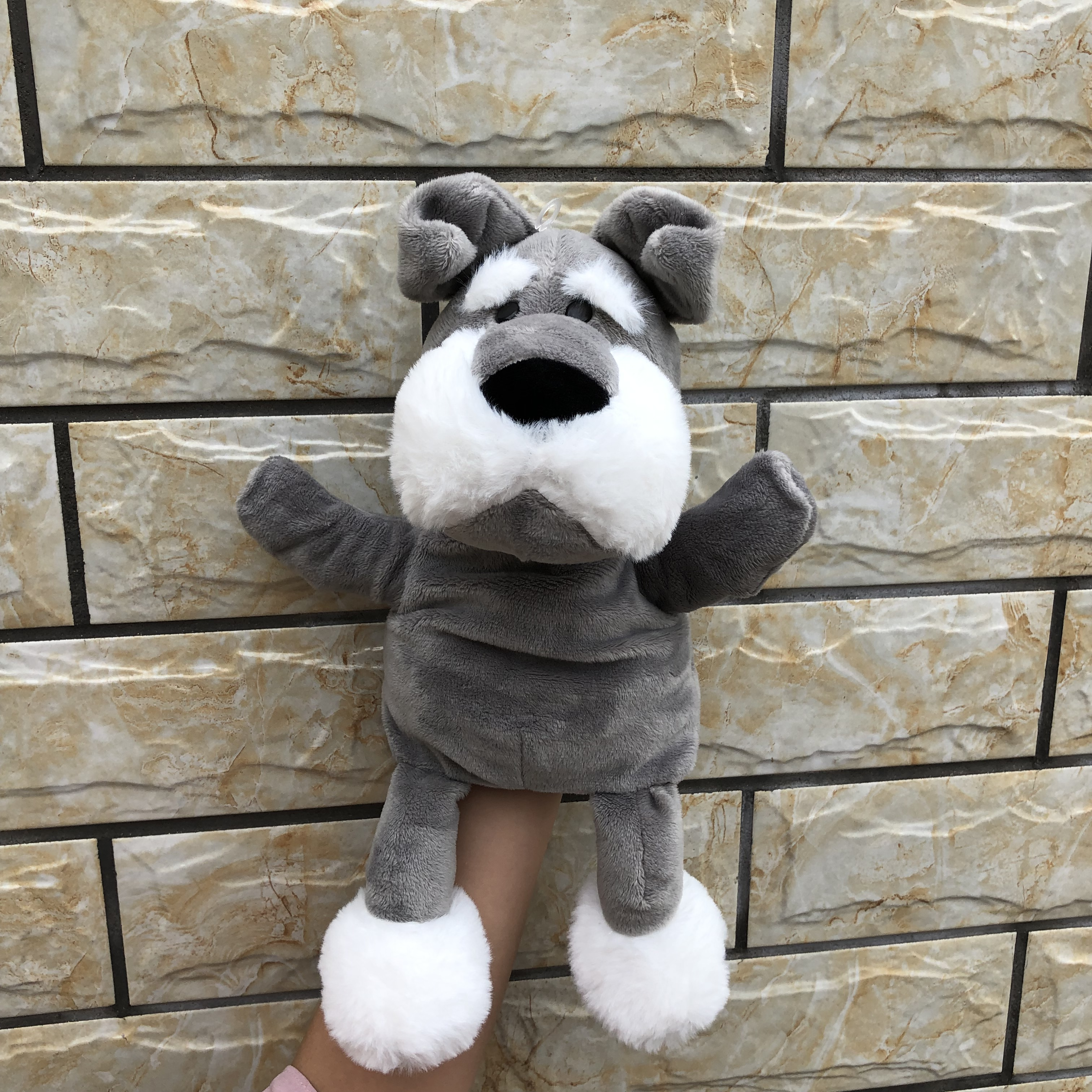 30cm Baby Kids Child Animal Dog Finger Puppet Infant Kid Toy Plush Hand Puppets Toys For Children