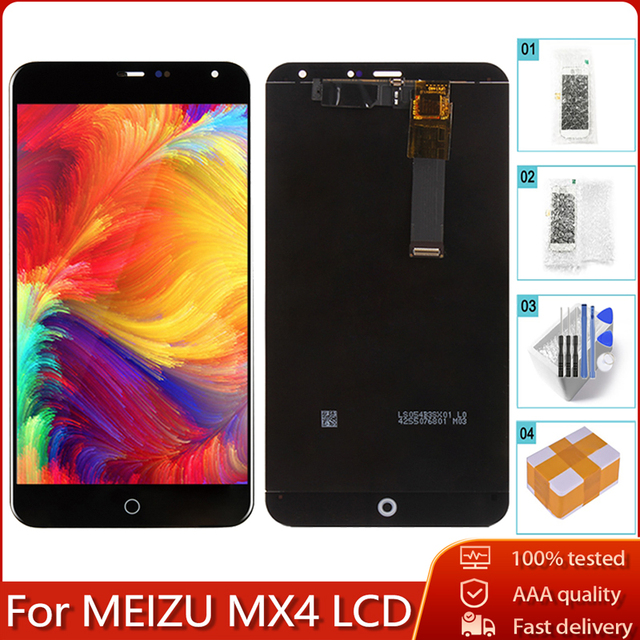 "5.36"" Original For MEIZU MX4 LCD Display Touch Screen 100% Tested Digitizer Assembly Free Tools"
