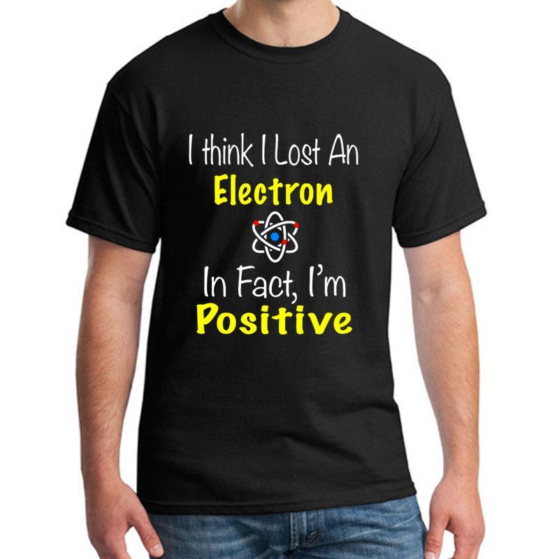 Фитнес химия lost an electron i'm positive Футболка мужская и женская XXXL 4Xl 5XL облегающие хип-хоп топы