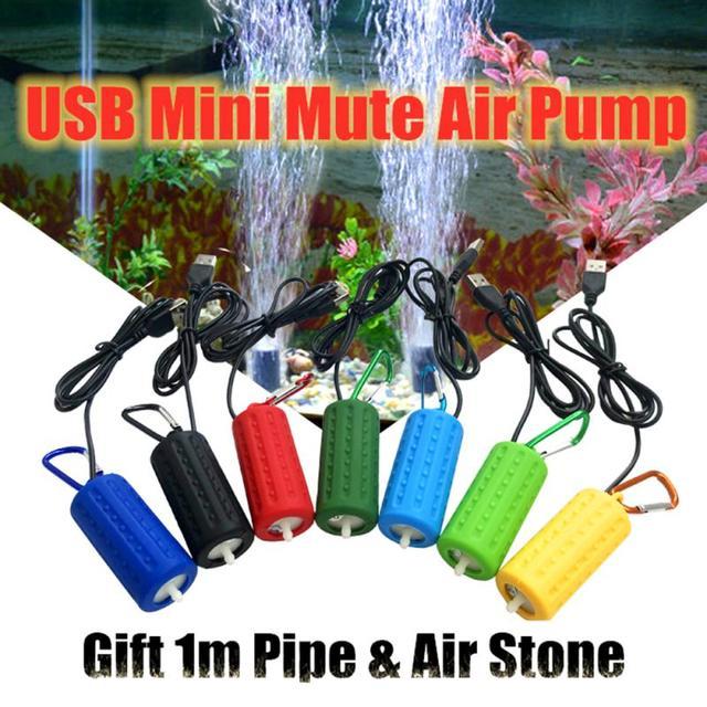 1PC Oxygen Air Pump Aquarium Fish Tank Portable USB Mini Aquatic Terrarium Mute Energy Saving Supplies Aeration Fish Home 2