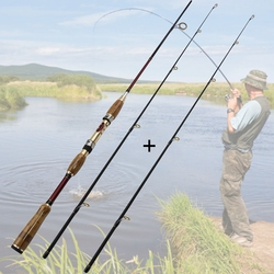 High Quality adjustable 1.8M 2.1M lure fishing rod High Carbon Spinning Rod M power Lure Weight 10-25g Fishing Tackle