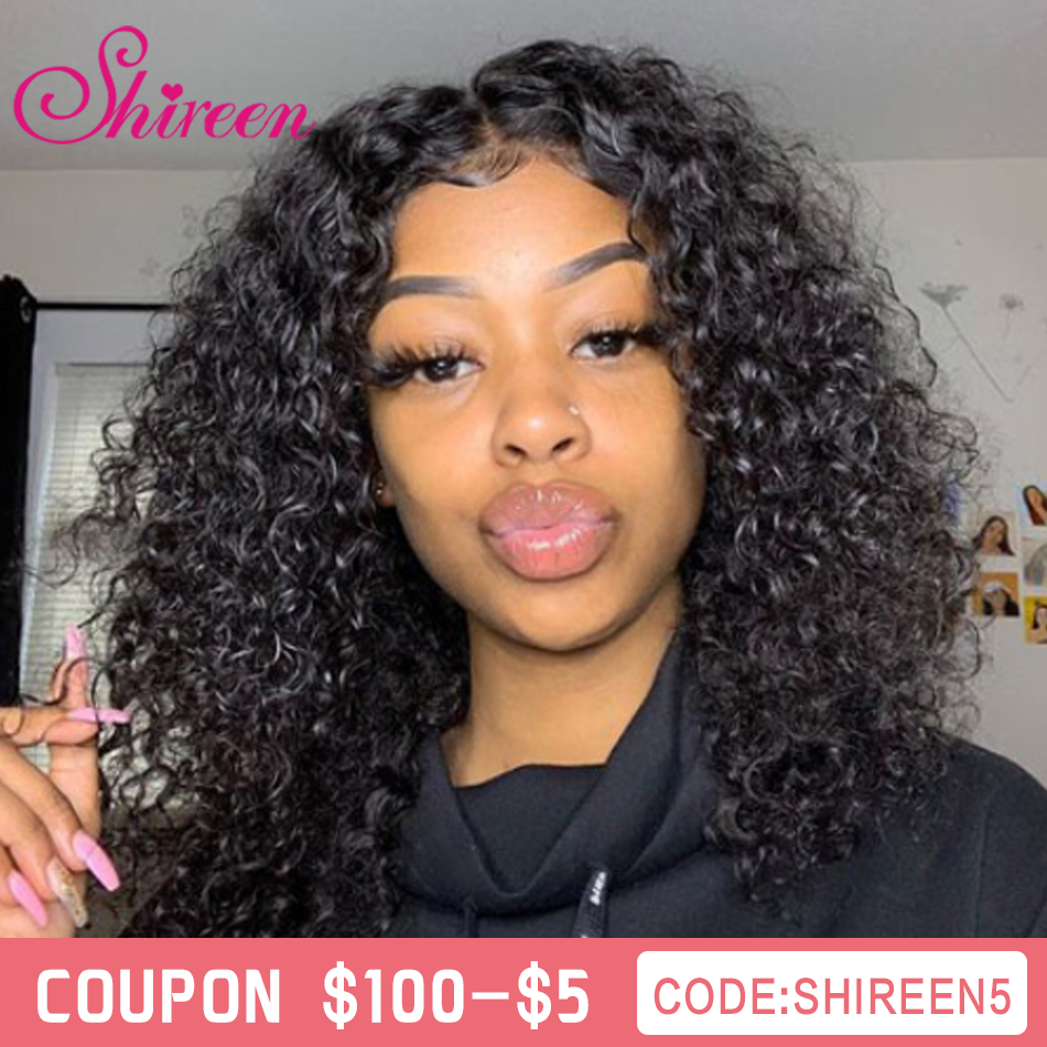 Shireen Curly Short Bob Lace Front Human Hair Wigs For Black Women Pre Plucked Peruvian Remy 13*4 Lace Front Wig 150 Density