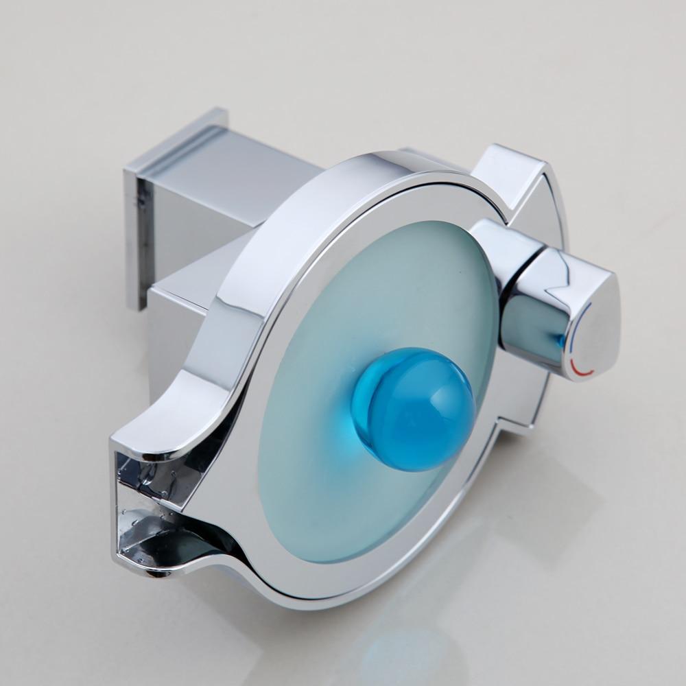 KEMAIDI LED changements de couleur cascade bassin robinet salle de bain baignoire évier mitigeur mitigeur cuisine robinet d'eau Chrome - 4