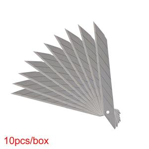 Image 4 - CNGZSY 50PCS 블레이드 9mm 30도 스테인리스 팁 유틸리티 나이프 학교 문구 포장 아트 커터 E03